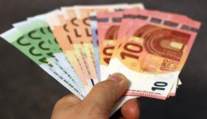 billets euros main