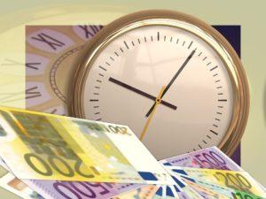 horloge billets euros